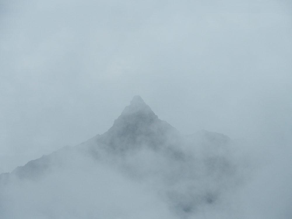 双六岳からの槍ヶ岳